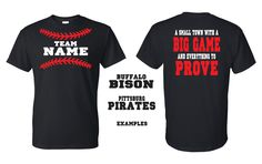 Baseball Shirts A Small Town With A Big by GraphicsUnlimitedLLC