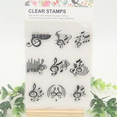 Music Notes Silicone Stamps