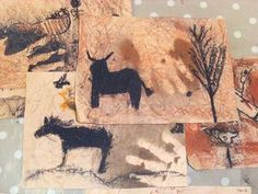 the Wall Cave Painting Art Activity For Kids stone age art projectstone age art project Art Activities For Kids, Art For Kids, Stone Age Ks2, Arte Elemental, We Will Rock You, Iron Age, Art Plastique, Elementary Art, Teaching Art