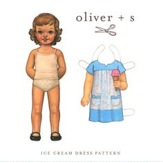 Sizes 5 to 12 Ice Cream Dress Sewing Pattern by Oliver + S by Selvedge on Etsy