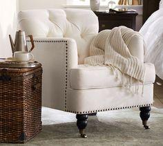 Tudor Upholstered Armchair | Pottery Barn