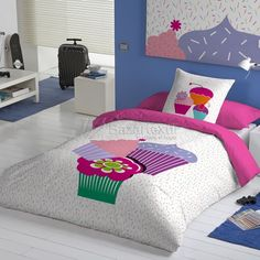 Bedroom Design For Teen Girls, Designer Bed Sheets, Wine Painting, Home Bedroom, Comforter Sets, Linen Bedding, Comforters, Cushions, Quilts