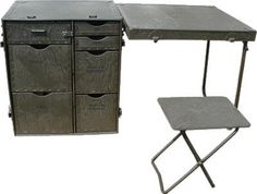 Vintage As New Industrial Collapsible Desk Table by ruckit on Etsy,