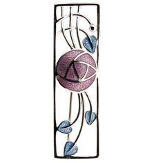 Charles Rennie Mackintosh Rose - Enamel Silver Brooch