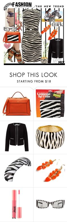 """""""Zebra White Black Stripes Contest"""" by belladonnasjoy ❤ liked on Polyvore featuring Forum, Karen Millen, Mulberry, Bebe, Luggage Spotters, John Lewis, Kenneth Jay Lane, Too Faced Cosmetics and Versace"""
