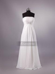 ウェディングドレス エンパイア ビスチェ シフォン アイボリー フロアレングス ビーズ H3lblb1899 価格 ¥43,417 | fashionweddingdresses.net | Coming Soon | Follow Us エンパイア -  #ウェディングドレス