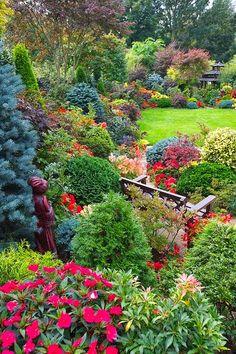 Garden side border early autumn by Four Seasons Garden on Flickr