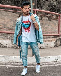 Look masculino all jeans. Veja mais dicas de moda masculina com jaquetas no blog Marco da Moda - Foto: Francis Will