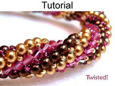 Bracelet Beading Pattern Herringbone Stitch von SimpleBeadPatterns