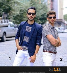 Which style would you put on this weekend, 1 or 2 ?  #Casual #Inspiration #Weekend #Menswear #Model #Style #Segment #Denim #Jeans #Fashion #MaleFashion #Ahmedabad