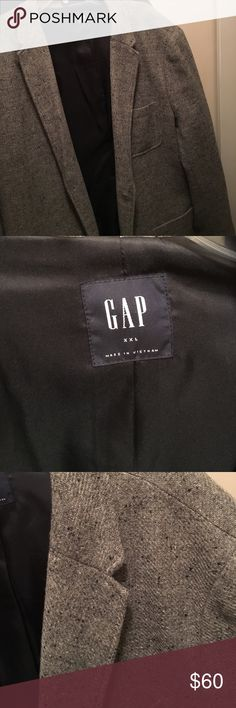Gap xxl wool polyester blend gray blazer for men Gap xxl gray blazer!  Like new, great condition! Make an offer GAP Suits & Blazers Sport Coats & Blazers