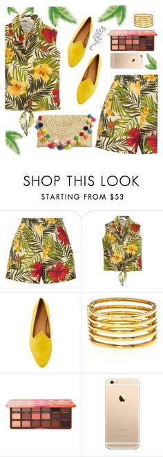 """""""Funny Day"""" by zanfira-panciu ❤ liked on Polyvore featuring Miguelina, Le Monde Beryl, Kenneth Jay Lane and Too Faced Cosmetics"""