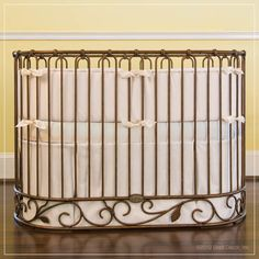 Classic Oval Crib Bedding for J'adore Oval Iron Crib at Jack and Jill Boutique.