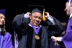 GRAMMY-winning trumpeter Wynton Marsalis makes school look as cool as jazz after delivering the commencement address at Hunter College on May 27 in New York