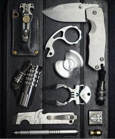 No Time to Waste. EDC UP. EDC Everyday Carry Gear Gadgets Pocket Dump