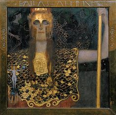 Minerva or Pallas Athena, Gustav Klimt Completion Date: 1898 Style: Art Nouveau (Modern) Period: Golden phase Genre: mythological painting Technique: oil Material: canvas Dimensions: 75 x 75 cm Gallery: Historical Museum of the City of Vienna, Vienna Art Klimt, Art Nouveau, Franz Josef I, Kunsthistorisches Museum, Baumgarten, Vienna Secession, Oil Painting Reproductions, Electronic Art, Kandinsky
