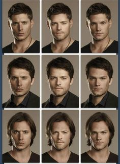 Dean to Cas. Cas to Sam.   Misha Collins  as  Cas   ~~ Jensen Ackles and Jared Padalecki   from Supernatural  TV Show 2013