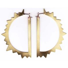 Sun Earrings (I could be a hoop kind of gal if i had these)