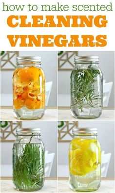 How to make fragrant vinegar cleaners step by step - Natural Living - # . - How to make fragrant vinegar cleaners step by step – natural living – # Fragrant clean - Deep Cleaning Tips, House Cleaning Tips, Spring Cleaning, Cleaning Hacks, Diy Hacks, Cleaning With Vinegar, Natural Cleaning Recipes, Green Cleaning Recipes, Diy Cleaning Wipes