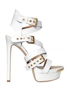 DSquared Belted Sandals : Under very-flared slacks (cranberry, beige, gold or cream), or with a Mod dress.