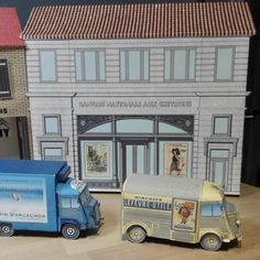 PAPERMAU: City Of St Hy Le Beau National Bank Paper Model - by Pascal