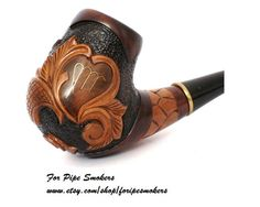 Hand Carved Smoking Pipe.