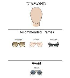 Glass Frames for Diamond Face Shape  #glasses #sunglasses #eyeglasses