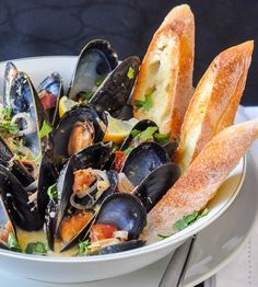 Lemon Dijon Moules Marinières - Lemon Dijon Steamed Mussels, an incredible appetizer course or special lunch. Add linguine for an amazing pasta version too
