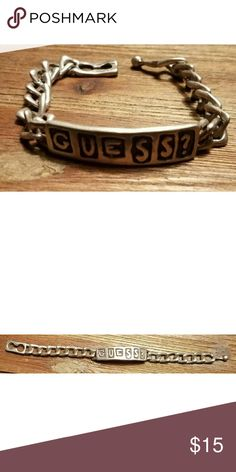 "💖 FLASH SALE 💖  Vintage {GUESS} Bracelet Vintage Guess Chain Bracelet  7 1/2""  Want more then one item?  Get 15% off when you bundle 2 or more items!  Feel free to ask me any questions. I'm happy to help!  All reasonable offers accepted!! $5 items can't be reduced further unless bundled. Guess  Jewelry Bracelets"