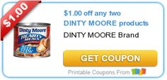 $1.00 off any two DINTY MOORE products
