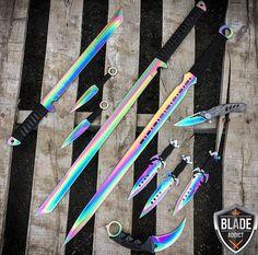 Rainbow Blade Set #BladeAddict