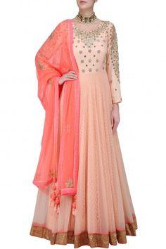 Nikasha Pink Embroidered Anarkali Set #happyshopping#shopnow#ppus