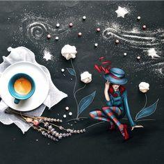 Маленькие кофейные истории-картины итальянской художницы Cinzia Bolognesi - Ярмарка Мастеров - ручная работа,…