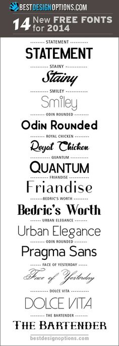 New Free Fonts to Spruce Up Your Designs in 2014