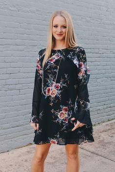ffd4e932ad5 Flowy Black Floral Dress
