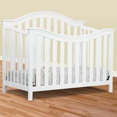 DaVinci Goodwin 4-in-1 Convertible Crib in White - Click to enlarge Girl Nursery, Nursery Ideas, Convertible Crib, Nursery Furniture, Baby Cribs, Babies, Children, Bed, Babys