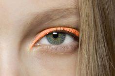 Neon orange eyeliner