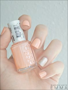 Essie - A Crewed Interest & Beyond Cozy Loving the combination of the soft peach & glitzy flare!