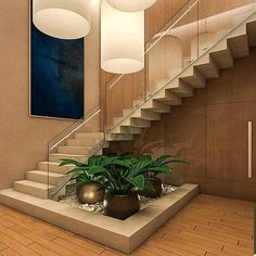 Stairs design for duplex house staircase designs for homes awesome Home Stairs Design, Interior Stairs, Modern House Design, Stair Design, Railing Design, Interior Garden, Home Interior Design, India House, Escalier Design