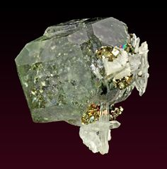 Fluorite with Quartz, Pyrite