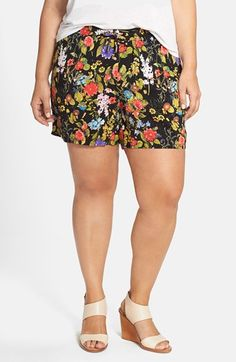 JUNAROSE+Print+Shorts+(Plus+Size)+available+at+#Nordstrom