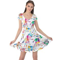 Colorful palms, hand print pattern, rainbow colors palette Cap Sleeve Dress #dress #womens #fashion #girls #style #cowcow Palms, Rainbow Colors, Fit And Flare, Creative Design, Cap Sleeves, Print Patterns, Palette, Colorful, Summer Dresses