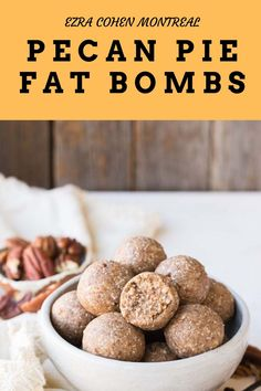 These pecan pie fat bombs are a delicious keto-friendly treat. Made from Ezra Cohen Montreal praline pecan butter our pecan pie fat bombs are high in protein and sugar-free making an indulgent, yet healthy snack to maintain your diet goals. Healthiest Nut Butter, Healthy Snacks, Healthy Recipes, Coconut Pecan, Pecan Pralines, Energy Bites, Fat Bombs, Montreal
