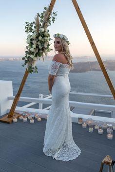 Dreamy Elopement from Santorini on a Budget Budget Wedding, Wedding Planner, Our Wedding, Santorini Wedding, Grace Loves Lace, Button Up Dress, Boho Bride, Destination Weddings, Event Planning