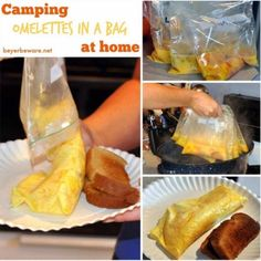 Camping idea - Omelets in a bag...could do at home as well...