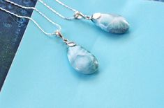 This Teardrop Larimar Pendant has a delicate pattern and soft blue color ready to make a special gift for that special one. Larimar Jewelry, Finding Joy, Special Gifts, Delicate, Pendant Necklace, Blue, Color, Colour, Colors