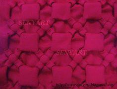 Senyart: Passo a passo da almofada capitonê laços com quadrado