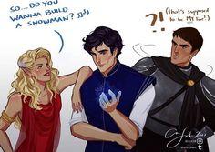 Aelin, Dorian and Chaol