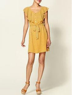 Ya Los Angeles Ruffle Top Button Dress   Piperlime - $29.99 - Probably too short, but I thought it was cute.  XS-L