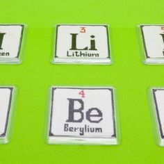 Christmas card chemistry periodic table of the elements holidy table of elements kit 2 6 element coaster cross stitch kit urtaz Choice Image